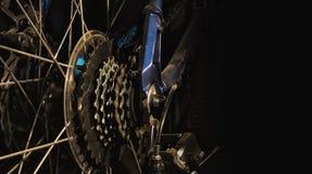 Cassetta della ruota posteriore del mountain bike Immagini Stock Libere da Diritti
