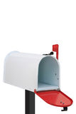 Cassetta delle lettere bianca Fotografie Stock