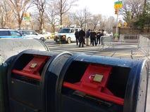 Cassetta delle lettere bloccata, Postbox, NYC, NY, U.S.A. Immagini Stock
