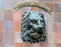 Cassetta delle lettere con il fronte del leone Immagine Stock Libera da Diritti
