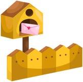 Cassetta delle lettere con la lettera di amore illustrazione vettoriale
