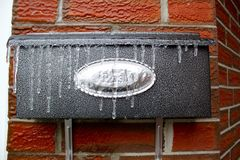 Cassetta delle lettere congelata Fotografia Stock