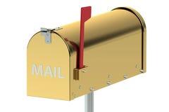 Cassetta delle lettere dell'oro Immagine Stock