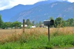 Cassetta delle lettere di base nella zona rurale Immagine Stock Libera da Diritti