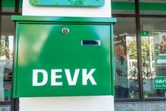Cassetta delle lettere di DEVK Immagini Stock
