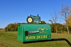 Cassetta delle lettere di John Deere Immagini Stock Libere da Diritti