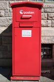 Cassetta delle lettere di Posten fotografie stock libere da diritti