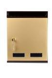 Cassetta delle lettere dorata Immagini Stock