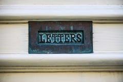 Cassetta delle lettere nel legno Fotografie Stock
