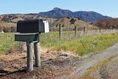 Cassetta delle lettere nella zona rurale Immagini Stock Libere da Diritti