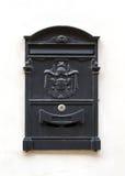 Cassetta delle lettere nera Immagini Stock
