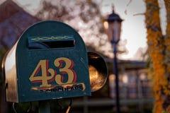 Cassetta delle lettere nessuna 43, Christchurch Nuova Zelanda Immagine Stock