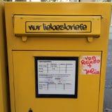 Cassetta delle lettere per le lettere di amore Fotografia Stock Libera da Diritti