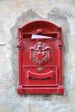Cassetta delle lettere rossa Immagine Stock Libera da Diritti