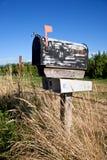 Cassetta delle lettere stagionata Fotografie Stock Libere da Diritti