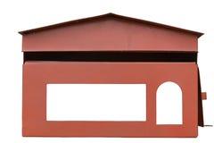 Cassetta delle lettere su fondo bianco Fotografia Stock Libera da Diritti