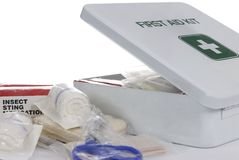 Cassetta di pronto soccorso 3 Fotografie Stock Libere da Diritti