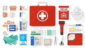 Cassetta di pronto soccorso Fotografie Stock