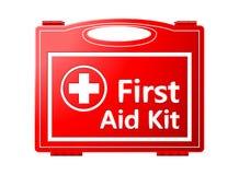 Cassetta di pronto soccorso; Attrezzatura medica Fotografia Stock Libera da Diritti