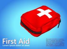 Cassetta di pronto soccorso; Attrezzatura medica Immagine Stock