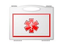 Cassetta di pronto soccorso; Attrezzatura medica Fotografie Stock Libere da Diritti