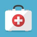 Cassetta di pronto soccorso di bianco illustrazione vettoriale