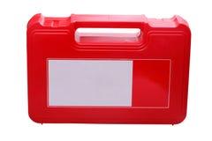 Cassetta di pronto soccorso su priorità bassa bianca Fotografia Stock Libera da Diritti