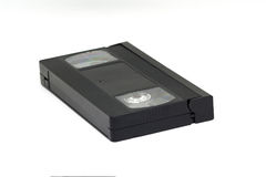 Cassetta di videocassetta di VHS isolata su fondo bianco, Fotografia Stock