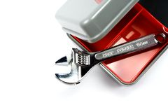 Cassetta portautensili con la chiave registrabile Fotografia Stock