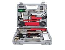 Cassetta portautensili del meccanico della bicicletta fotografia stock libera da diritti