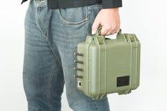 Cassetta portautensili della maniglia del tecnico Immagine Stock