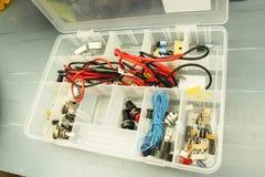 Cassetta portautensili elettronica fotografie stock libere da diritti