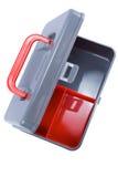 Cassetta portautensili pulita e vuota Fotografie Stock Libere da Diritti