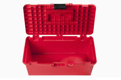 Cassetta portautensili rossa Immagini Stock