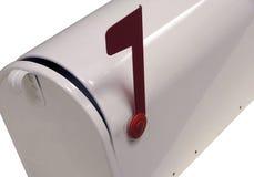 Cassetta postale bianca Immagine Stock