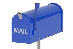 Cassetta postale blu Immagine Stock