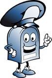 Cassetta postale blu con un grande cappello Fotografia Stock Libera da Diritti