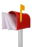Cassetta postale con la bandierina Fotografia Stock Libera da Diritti