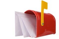 Cassetta postale con la bandierina Fotografia Stock