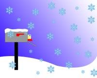 Cassetta postale dello Snowy Immagini Stock