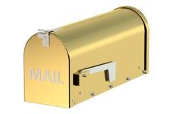 Cassetta postale dorata Immagine Stock