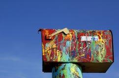 Cassetta postale felice Fotografia Stock