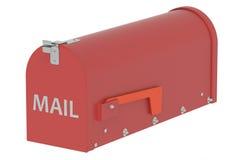 Cassetta postale rossa Fotografie Stock Libere da Diritti
