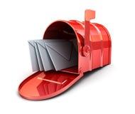 Cassetta postale rossa Immagini Stock Libere da Diritti