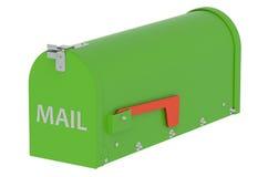 Cassetta postale verde Fotografia Stock Libera da Diritti