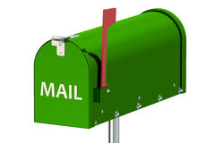 Cassetta postale verde Fotografia Stock