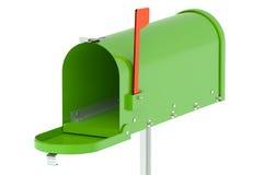 Cassetta postale verde Immagine Stock Libera da Diritti