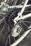 Cassetta posteriore della bici sulla ruota Fotografie Stock