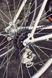 Cassetta posteriore della bici sulla ruota Fotografie Stock Libere da Diritti