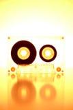 Cassette éclairée à contre-jour par la lumière orange Images libres de droits